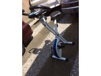 Davina McCall folding Exercise Bike. Lightweight. Great Condition. Folds for storage