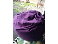 Purple beanbag