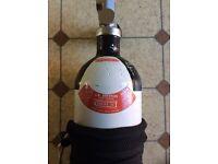 Diving cylinder bottle faber 3l 232 bar scuba air gun charging in test