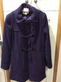 Ladies size 12 coat Dark Mauve Never worn £30