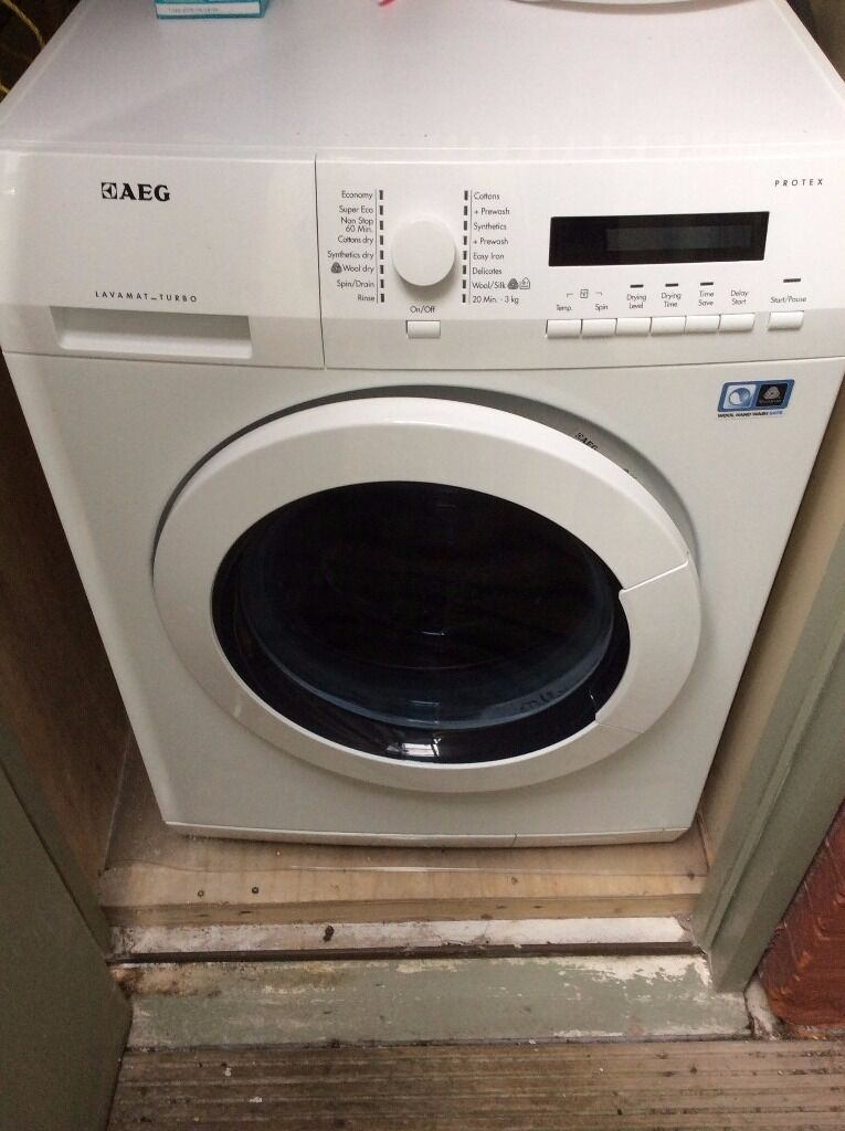 AEG L75480WD washing machine and dryer - excellent condition; only 2 yrs old; handles large 8kg load