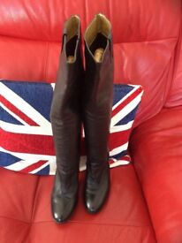 Black real leather boots ladies by faith size 5