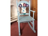 Beautifully upcycled childrens rocking chair