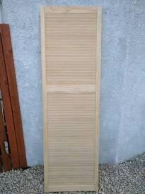 Pine slat door