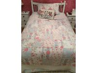Beautiful Floral Quilted Throw and Pillow case- Double Bed