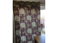 Pair of fully lined eyelet curtains by Next