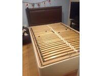 Electric adjustable double bed base