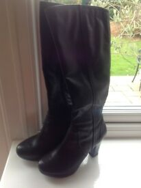 M&S Autograph Black Boots For Sale. Size 3 1/2.