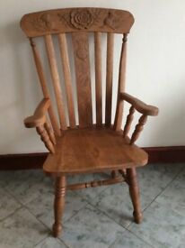Handcrafted Oak Chair