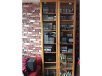 Ikea Bookcases, drawers, two door cabinet and cd stand