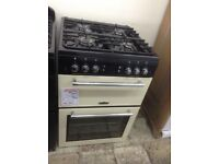 Leisure double oven. Cream 60cm gas. £349 RRP £549. New/graded 12 month Gtee