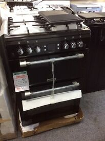 Black leisure cookmaster gas cooker new in box 12 mth gtee
