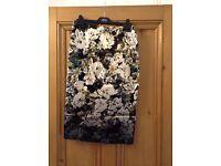 Beautiful floral silk midi skirt from Miss Selfridge (Size 12)