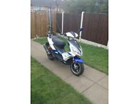 Moped lexmoto 125cc CBT learner leagle with mot can diliver (16 reg low miles l@@k)
