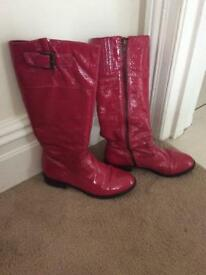 Pink lady's boots