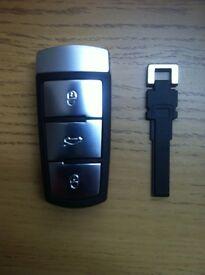 VW PASSAT 2005-2014 3C B6 GENUINE/ ORIGINAL REMOTE KEY SUPPLIED, CUT & PROGRAMMED 2.0TDI 1.6FSI CC