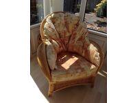 5 piece conservatory furniture,terracotta colour.