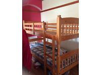 Solid pine bunk beds