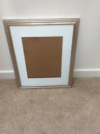Chrome finish picture frame