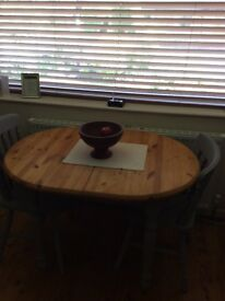 Space saving shabby chic dining table and chairs for sale