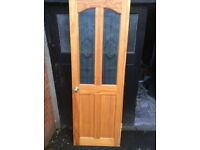 Internal Glazed Pine Door - one of a pair sold seperately