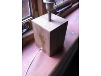 Small Wooden MDF Bedside Table Lamp