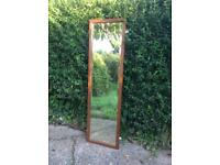 Lovely Bevelled Full-Length Mirror in Wooden Frame