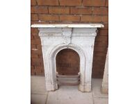 2 Victorian cast iron fire surrounds