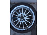 BMW 17inch alloy wheel 5x120. E36 E46 etc , 205/47/17 Bridgestone tyre