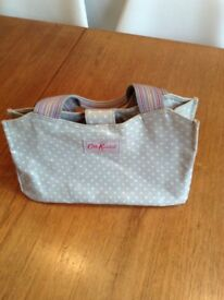 Good condition, used Cath Kidston small dotty oilcloth handbag