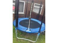Trampoline and enclosure