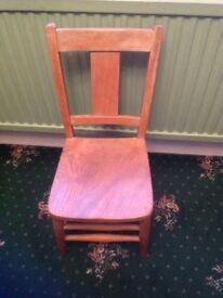 Old school wooden chair