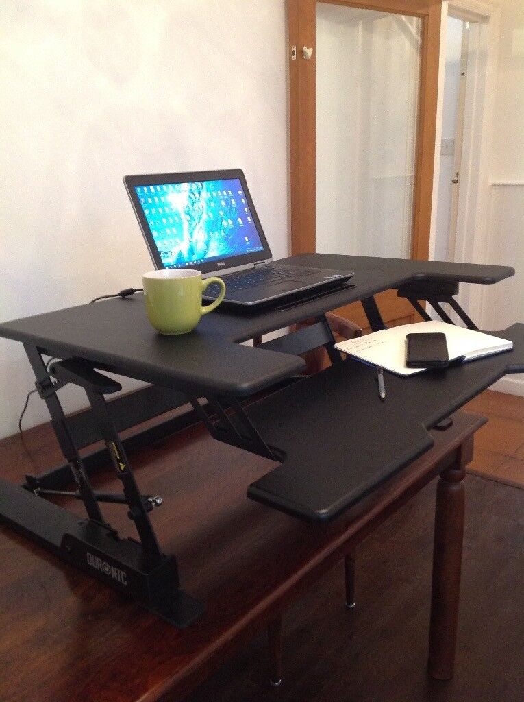 Duronic Stand Up Desk Manually Lift Your Computer And Screen So You Can Work Standing