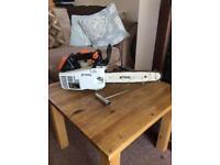 Stihl ms200 t top handle climbing saw,