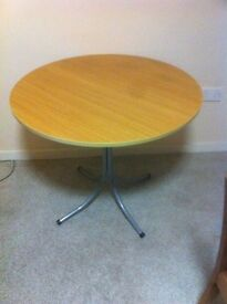 Round wooden table £20