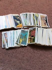 Old stamps and tea picture cards