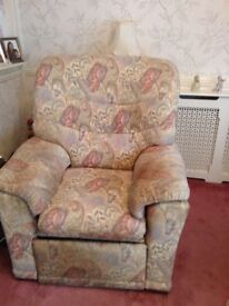 G plan sofa and recline chair free to collector
