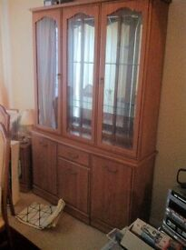 LARGE GLASS FRONTED CABINET