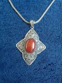 Sterling Silver Carnelian pendant/necklace