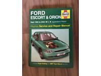 Ford Escort & Orion 1990 to 2000 Haynes manual