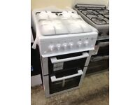 Flavel gas cooker. White 50cm. £229. New/graded 12 month Gtee