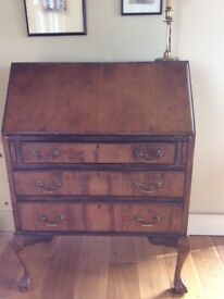 Vintage desk Queen Anne style - must go