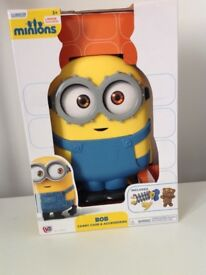 NEW BOXED - MINIONS BOB BACKPACK & ACCESSORIES SET - NEVER OPENED