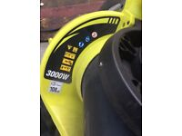 RYOBI leaf blower and vacuum 3000w