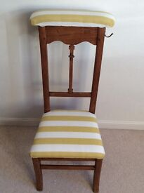 Beautiful newly upholstered chair would be lovely for a child's room or lounge