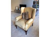 Laura Ashley Denbigh tan leather armchair