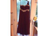 Burgundy Ball/Evening Gown
