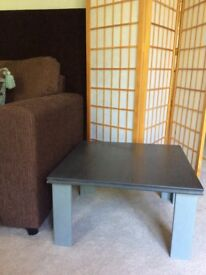 Small solid wood coffee table