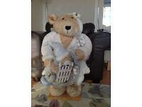 LARGE CHRISTMAS BEAR decoration about 80cms; high in very good condition.