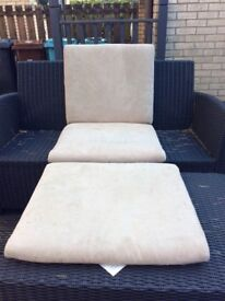 IKEA Poang seat covers (two covers) - leather and faux suade